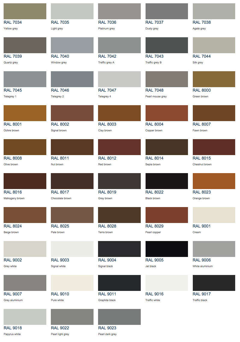 Ral Metallic Color Chart